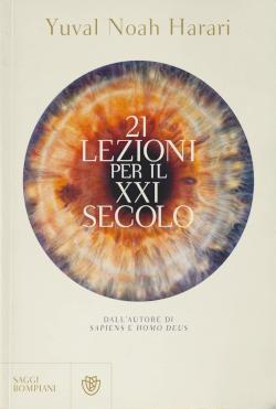 """Copertina del libro """"21 lezioni per il XXI secolo"""" di Harari"""