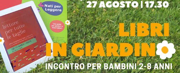 Libri in giardino, 27 agosto 17,30