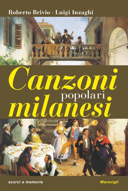 """Copertina del libro """"Canzoni popolari milanesi"""""""